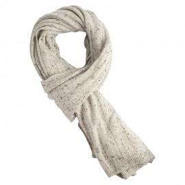 Weiß meliertes Kaschmir-Halstuch