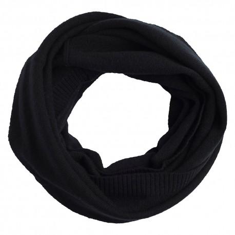 Schwarzer Halswärmer aus reinem Kaschmir