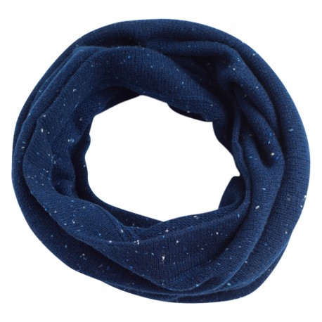 Blau melierter Kaschmir-Halswärmer