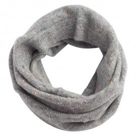 Grau melierter Halswärmer gestrickt aus Kaschmir