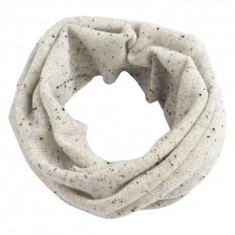 Weiß melierter Halswärmer auss Kaschmir
