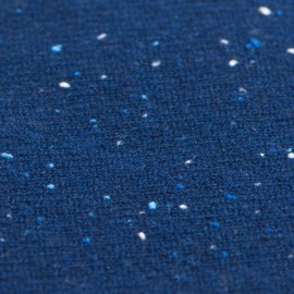 Blau melierter Schlauchschal aus Kaschmir