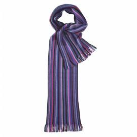 Blaues und violettes gestreiftes Tuch