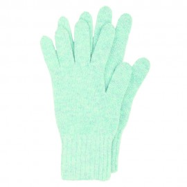 Hellblaue Strickhandschuhe aus Lammwolle