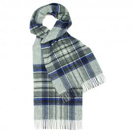 Graues Tuch mit weiß/blaues Schottenkaro