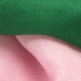 Zweifarbiger Pashmina-Schal in dunkelgrün und rosa