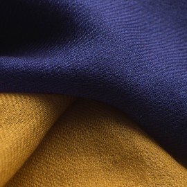 Zweifarbiger Pashmina-Schal in marinblau und gold