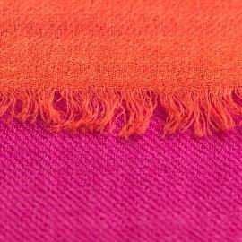 Zweifarbiger Pashmina-Schal in fuchsie und koralle