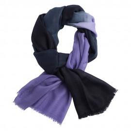 Zweifarbiger Pashmina in marinblau und lavendel