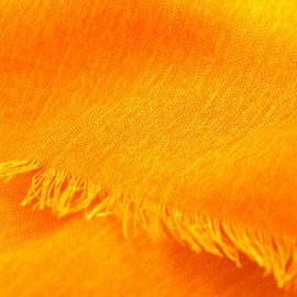 Orange pashminasjal i kashmir och siden