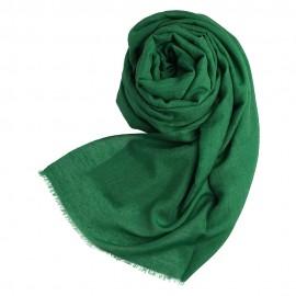 Dunkelgrüner Pashmina Schal aus Kaschmir und Seide