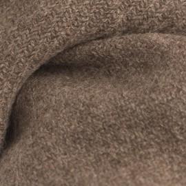 Naturfarbener graubraunes Tuch aus Yak Wolle