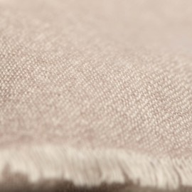 Kaschmir Tuch in beige/weiß Melange