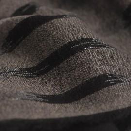 Ikat gewebter Schal in schwarz/grau Kaschmir und Wolle