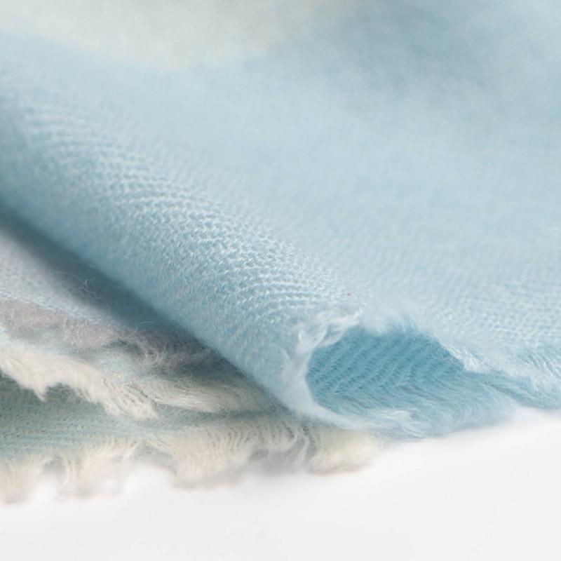 karierter pashmina schal in blau grau und wei. Black Bedroom Furniture Sets. Home Design Ideas