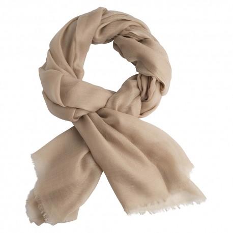 Sandfarbig Pashmina-Schal in Doppelfädiges Twill