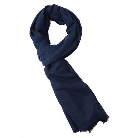 Kaschmir Tuch in blau/schwarz Melange