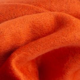 Orange Seidenstola in gebürsteter Seide