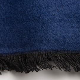 Marineblaue Seidenstola aus gebürsteter Seide