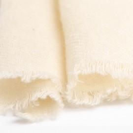 Kleiner Kaschmir-Tuch in Cremeweiß