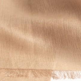 Sandfarbener Pashmina Schal aus Kaschmir und Seide