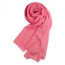 Rosafarbener Pashmina Schal aus Kaschmir und Seide