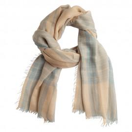 Schöner Schal mit Schottenkaro in blau und beige