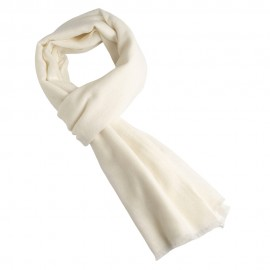 Weißer Schal aus reinem Kaschmir