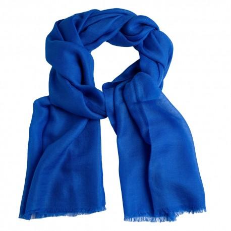 Blauer Pashmina-Schal in doppelfädigem Twill