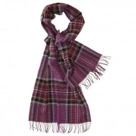 Großes violettes Tuch mit Schottenkaro