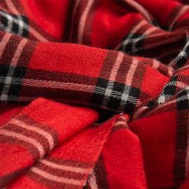 Kaschmir/Seide Schal in rotes Schottenkaro