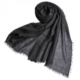 Schwarzer extra großer Schal aus Kaschmir 200 x 140 cm