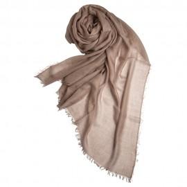 Taupegrauer extra großer Schal aus Kaschmir