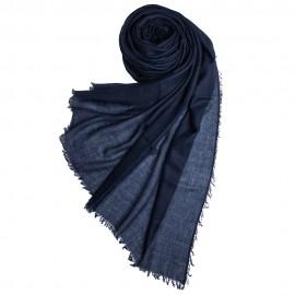 Navy extra großer Schal aus Kaschmir 200 x 140 cm
