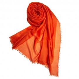 Orangefarbener extra großer Schal aus Kaschmir