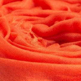 Orangefarbener extra großer aus Kaschmir 200 x 140 cm