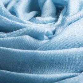 Taubenblauer extra großer Schal aus Kaschmir 200 x 140 cm