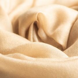 Sandfarbener extra großer Schal aus Kaschmir 200 x 140 cm