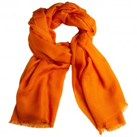 Orange Jacquard-Pashmina Schal