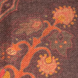 Paisley-Schal in Erdtönen