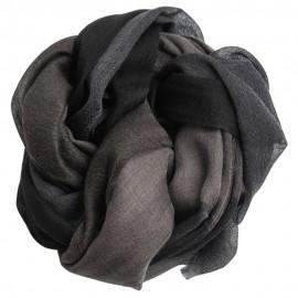 Karierter Kaschmir-Schal in Schwarz und Grau