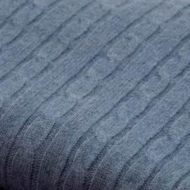 Taubenblaue Decke aus reinem Kaschmir