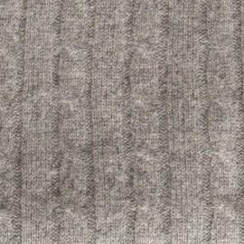Graue Strickdecke aus Merino und Kaschmir