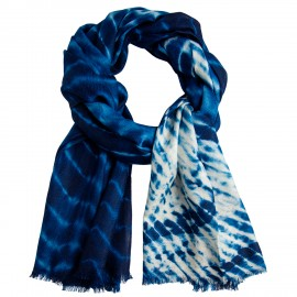 Blauer / Weisßer Tie-Dye schal