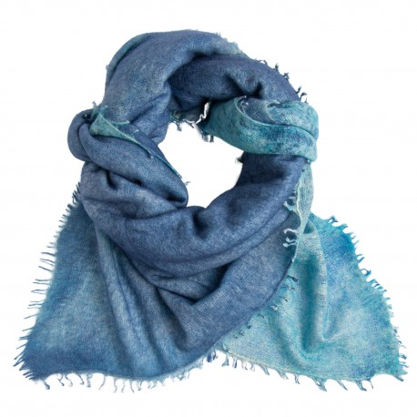 Blaues quadratischer Kaschmir-Tuch