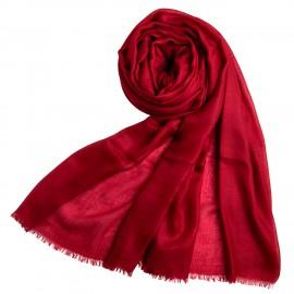 Weinroter extra großer Schal aus Kaschmir 200 x 140 cm