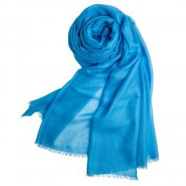 Hellblauer extra großer Schal aus Kaschmir