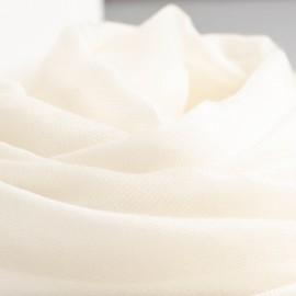 Weißer extra großer Schal aus Kaschmir 200 x 140 cm