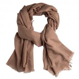 Taupegrauer Schal aus handgewebter Kaschmir