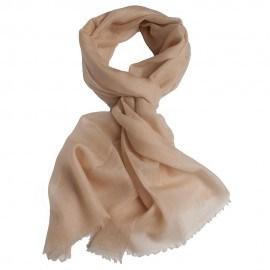 Beigefarbener Pashmina-Schal in Leinwandbindung